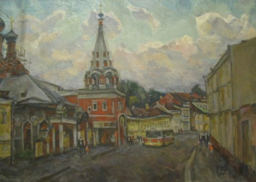 Bolshaya polyanka; canvas, oil, 50x70 sm, 1991 year, collection