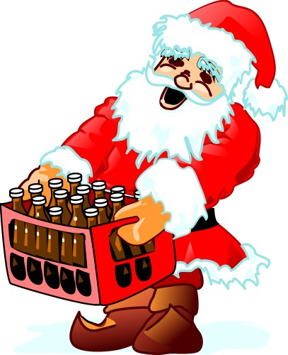 Santa with crate; Holidays