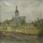 Solyanka street, Old Moscow. City landscape
