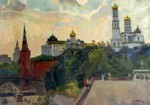 The prospect over the Kremlin, Old Moscow. City landscape, views: 1895
