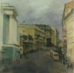 The Pushkinskaya street, Old Moscow. City landscape, views: 1872