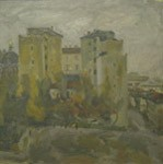 Bolshaya Ordinka. Grey day, Old Moscow. City landscape
