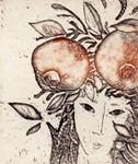 Taste of a pomegranate, Etchings, views: 2576