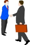 Two businessmen shaking hands, Business, views: 2892