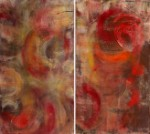 Diptych. Etude of Movements, Paint Pamela Walt Chauve, views: 1553