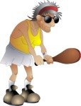 Old person playing tennis, Sport