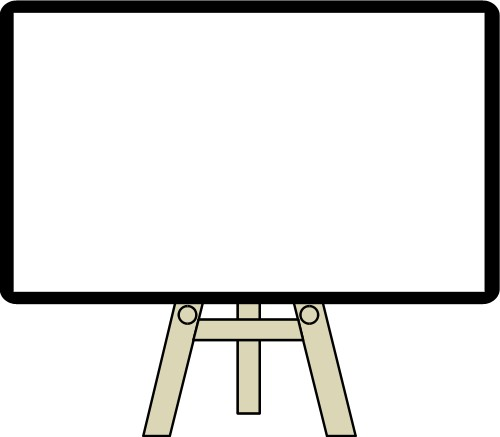 Backgrounds: Easel with whiteboard
