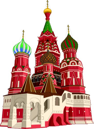 Basil's Cathedral; Travel, Europe, Totem, Graphics, St., Basil's, Cathedral