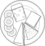 Selection of cheeses on a plate, Food