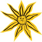 Stylised sun, Graphics