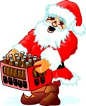 Santa with crate, Holidays