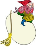 Witch on egg, Holidays