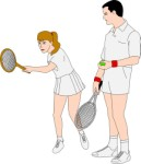 Tennis doubles partners, Sport