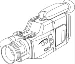 Outline drawing of a video camera, Technology, views: 9905