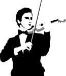 Violin player, Music, views: 4070