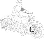 Outline drawing of a motorbike, Transport, views: 6441